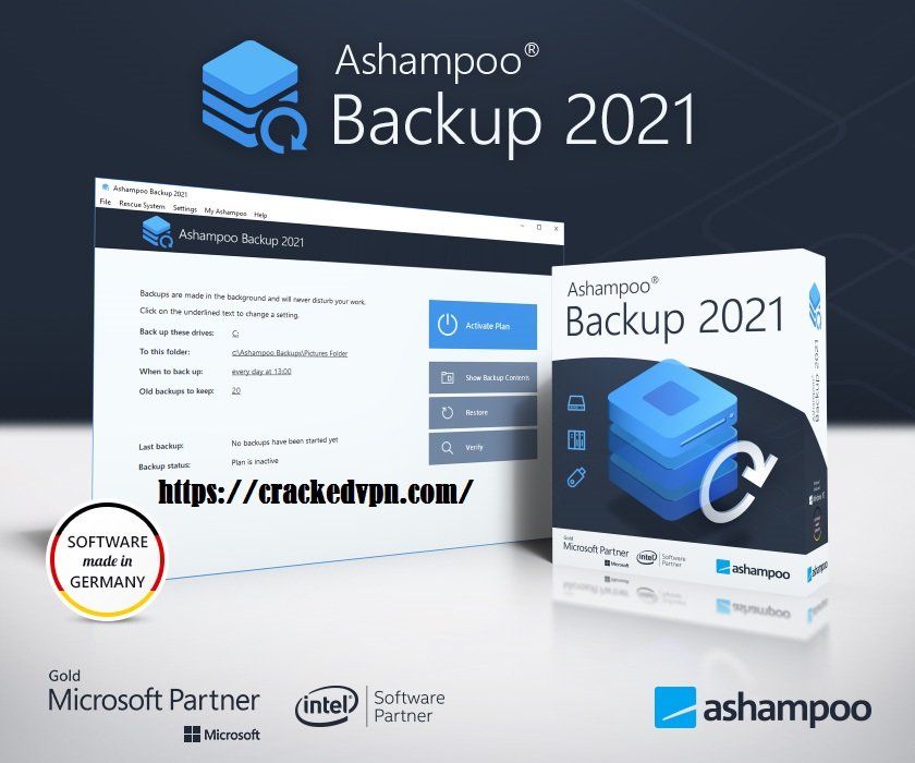 Ashampoo Backup 2021 Crack + Activation Key Free Download